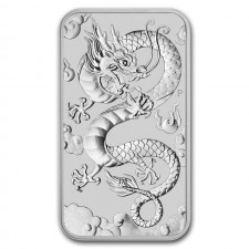 2019 Australia 1 Oz Silver Dragon Bar (BU)