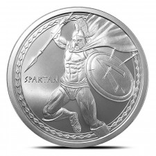 1 oz Spartan Warrior Silver Round