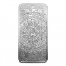 10 oz Silver Bar | Aztec Calendar