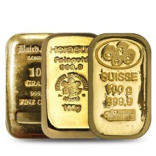 Secondary Market 100 Gram Gold Bar (Out of Plastic)