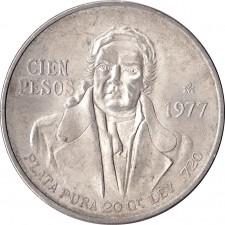 1977-1979 Mexico Silver 100 Pesos Avg Circ (ASW .643)