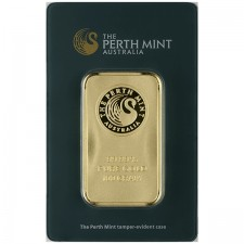 100 Gram Australia Perth Mint Gold Bar Front