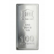 "100 Oz Academy ""Stacker"" Silver Bar (New)"