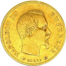 France Gold 10 Francs Napoleon III Avg Circ (Random Year)