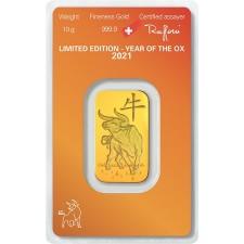 10 gram Argor-Heraeus Year of the Ox Gold Bar (In Assay)
