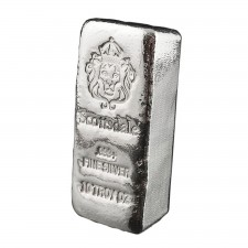 "Scottsdale Mint | 10 Oz Cast ""Chunky"" Silver Bar"