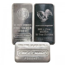 10 Oz Silver Bar - Engelhard (Random Design)