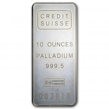 10 oz Credit Suisse Palladium Bar