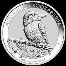 2021 Australia 1 Oz Silver Kookaburra (BU)