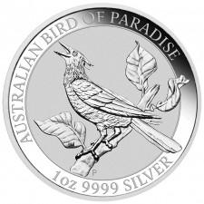2019 Australia 1 oz Silver Bird of Paradise Manucodia (BU)