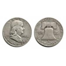 "90% ""Junk"" Silver Franklin Half Dollars $1 FV (2 Coins)"