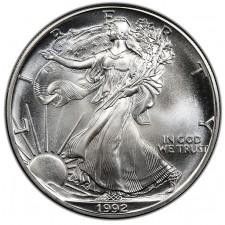 1992 American Silver Eagle BU