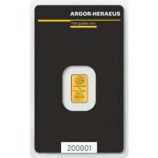 1 Gram Argor-Heraeus Gold Bar (In Assay)