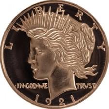 1 oz Copper Round | Peace Dollar (BU)