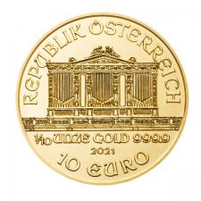 2021 Austria 1/10 Oz Gold Philharmonic (BU)