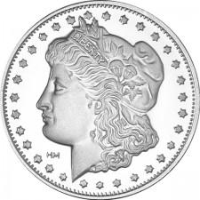 Highland Mint (HM) 1 Oz Morgan Design Silver Round