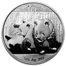 2010 China 1 Oz Silver Panda (In Capsule)