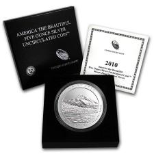 2010-P Mount Hood 5 Oz American Silver ATB (w/Box & COA)