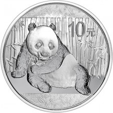 2015 China 1 Oz Silver Panda (In Capsule)