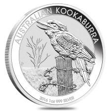 2016 Australia 1 Oz Silver Kookaburra (BU)