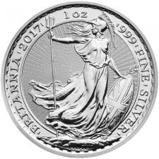 2017 Great Britain 1 Oz Silver Britannia - Rooster Privy (BU)