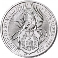 2017 UK 2 Oz Silver Griffin Queen's Beast Coin (BU) Reverse
