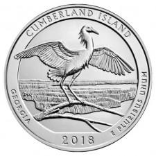 2018 Cumberland Island 5 Oz Silver ATB Coin (BU)