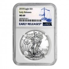 2018 American Silver Eagle NGC MS69 Early Release