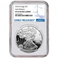 2018-W American Proof Silver Eagle NGC PR69 Early Releases