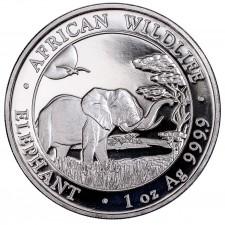 2019 Somalia 1 Oz Silver Elephant (BU)