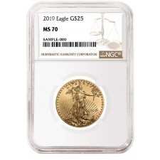2019 1/2 Oz American Gold Eagle NGC MS70