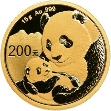 2019 China 15 Gram Gold Panda Coin BU (Sealed)