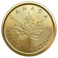 2019 Canada 1/20 Oz Gold Maple Leaf (BU)