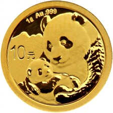 2019 China 1 Gram Gold Panda Coin BU (Sealed)