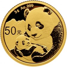 2019 China 3 Gram Gold Panda Coin BU (Sealed)