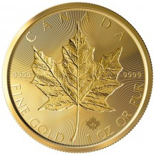 2019 Canada $50 1 Oz Incuse Gold Maple Leaf (BU)