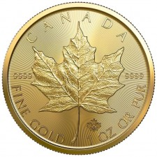 2019 Canada 1 Oz Gold Maple Leaf (BU)
