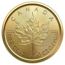 2020 Canada 1/10 Oz Gold Maple Leaf (BU)