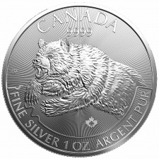 2019 1 Oz Silver Predator Series | Grizzly