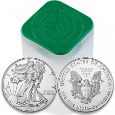 2019 American 1 Oz Silver Eagle Roll/Tube of 20