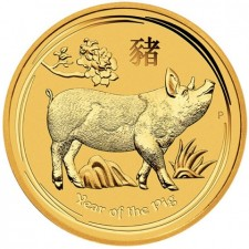 2019 Australia 1/10 oz Gold Lunar Pig Coin (BU)