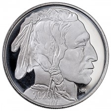 Highland Mint (HM) 1 Oz Buffalo Silver Round