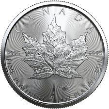 2020 Canada 1 Oz Platinum Maple Leaf (BU)