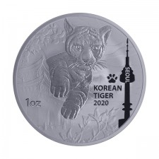 2020 South Korea 1 Oz Silver Tiger (BU)