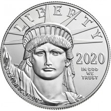 2020 American 1 Oz Platinum Eagle (BU)