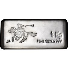 1 Kilo SilverTowne Pony Silver Bar (New)