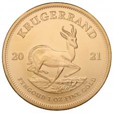 2021 1 Oz South Africa Gold Krugerrand (BU)
