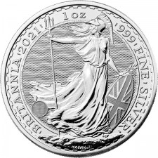 2021 Great Britain 1 Oz Silver Britannia (BU)