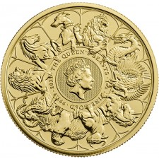 2021 UK 1 Oz Gold Queen's Beasts Complete Series Coin (BU)