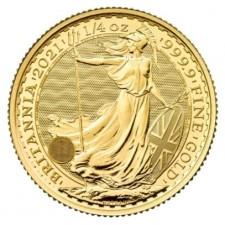 2021 Great Britain 1/4 Oz Gold Britannia (BU)